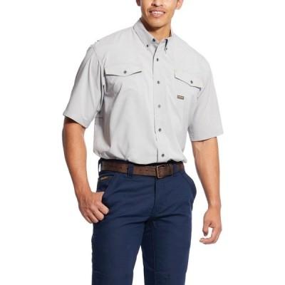 アリアト シャツ トップス メンズ Ariat Men's Rebar Made Tough VentTEK DuraStretch Work Shirt Alloy