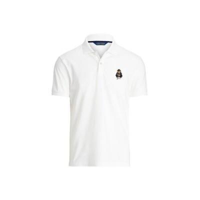 POLO GOLF / RLX/ポロ ゴルフ / RLX (POLO GOLF)カスタム スリム フィット Polo ベア ポロ シャツ 100ホワイト L
