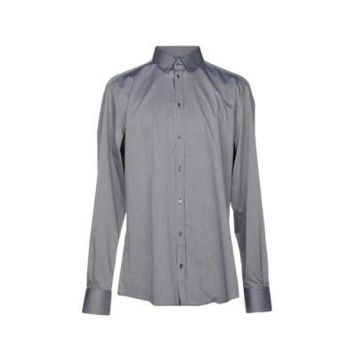 DOLCE & GABBANA ストライプ柄シャツ  メンズファッション  トップス  シャツ、カジュアルシャツ  長袖 ブラック