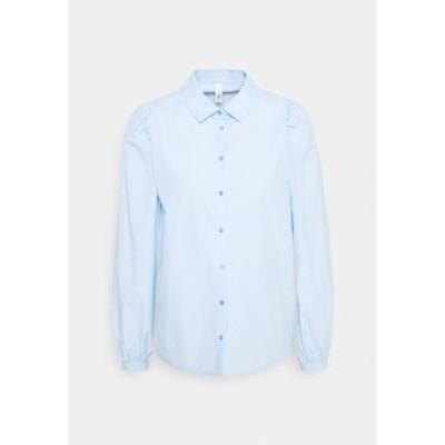 ソヤコンセプト レディース シャツ トップス SC-NETTI 1 - Button-down blouse - powder blue powder blue