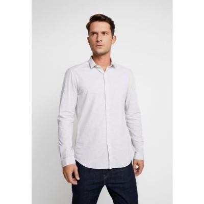 トム テイラー メンズ シャツ SPACE YARN SHIRT - Shirt - morning grey
