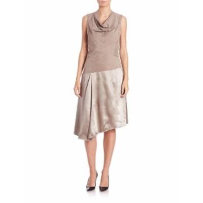 ラファイエット148ニューヨーク レディース ワンピース Nia Suede &amp Silk Dress