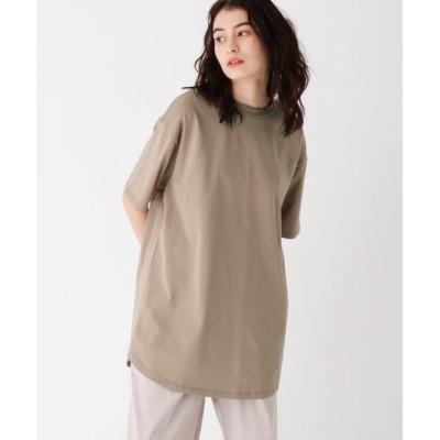 【オペークドットクリップ】 スペシャルコットン BIG ラウンドヘムTシャツ ユニセックス サンドベージュ 38(M) OPAQUE.CLIP