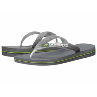 Havaianas ハワイアナス レディース 女性用 シューズ 靴 サンダル Brazil Mix Flip Flops Steel Grey/White/White【送料無料】