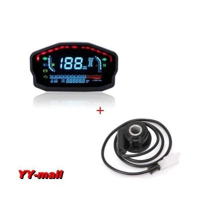 スピードメーター デジタル 汎用 LED バックライト 2.4 シリンダー センサーB