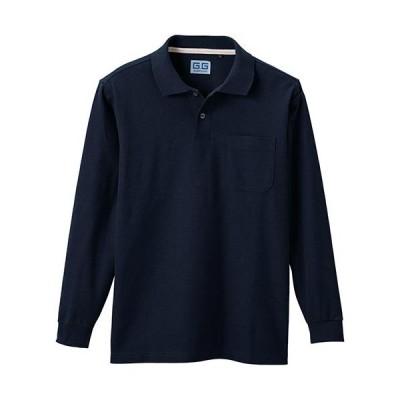 桑和(SOWA) 長袖ポロシャツ 1/ネイビー S〜3Lサイズ 50590 作業着 作業服 ワークウェア ウエア トップス メンズ