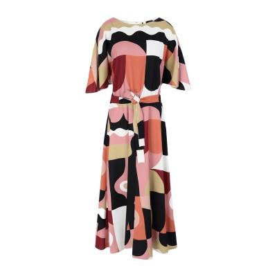 MARELLA 7分丈ワンピース・ドレス パステルピンク 42 ポリエステル 100% 7分丈ワンピース・ドレス