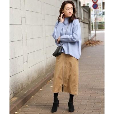 スカート スウェードジップスカート