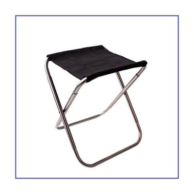 Mini Folding Stool with Carrying Bag Portable Outdoor Stool Lightweight Camping Chair Stool Seat for Garden Picnic Fishing (Silver)