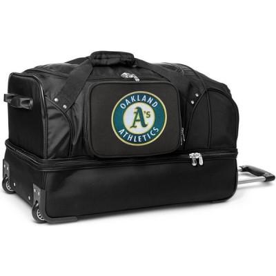 "MLB ユニセックス スーツケース・キャリーバッグ バッグ Mojo 27"" Rolling Drop Bottom Duffel Bag Oakland Athletics"