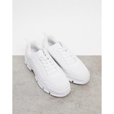 トリュフコレクション メンズ スニーカー シューズ Truffle Collection white chunky trainer