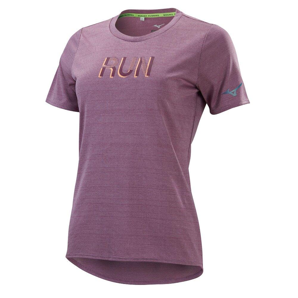 女款路跑短袖T恤 J2TA170166(沙漠玫瑰)【美津濃MIZUNO】