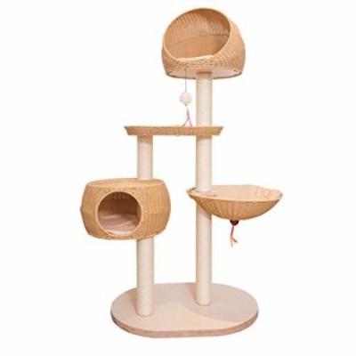 Rat織猫のおもちゃ、猫の木の家猫の家屋内猫スクラッチボードワンピースジ (中古品)
