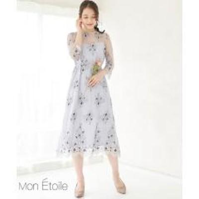 ROPE' PICNIC(ロペピクニック)【一部店舗限定】【Mon E'toile】レースレイヤードドレス【お取り寄せ商品】