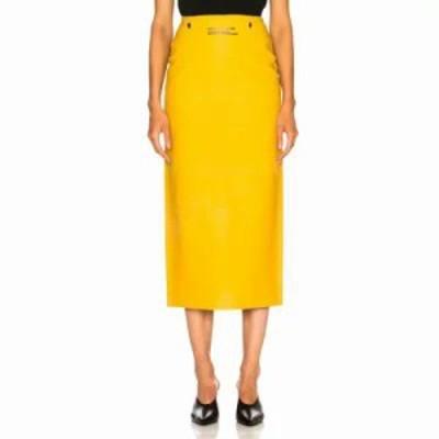 カルバンクライン ひざ丈スカート Midi Skirt Pastel Yellow