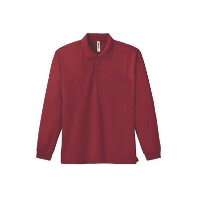 [グリマー]4.4オンス ドライ長袖ポロシャツ(ポケット付) 00335-ALP ALP  バーガンディ 日本 SS (日本サイズXS相当)
