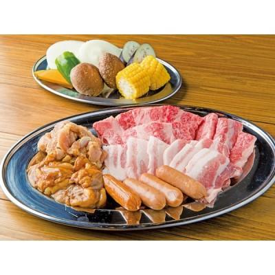 ガッツリセット 知多牛モモ肉800g、知多三元豚バラ800g、鶏ムネ肉500g、野菜500g、フランク400g