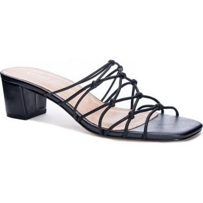 チャイニーズランドリー CHINESE LAUNDRY レディース サンダル・ミュール スライドサンダル シューズ・靴 Lizza Slide Sandal Black Faux Leather