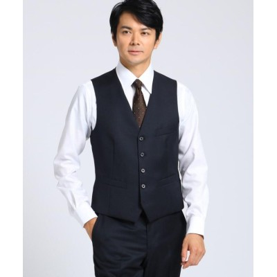 (TAKEO KIKUCHI/タケオキクチ)【J∞QUALITY】サージベスト Fabric by MIYUKI KEORI/メンズ ダークネイビー(094)