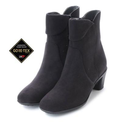 【GORE-TEX】マドラスウォーク madras Walk ゴアテックスで雨でも無敵!5.5cm太めヒールで安定感!きれいめショートブーツ  MWL2100 (ブラック)