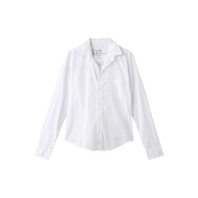 Frank&Eileen フランク&アイリーン BARRY コアライトポプリン コットンシャツ レディース ホワイト S