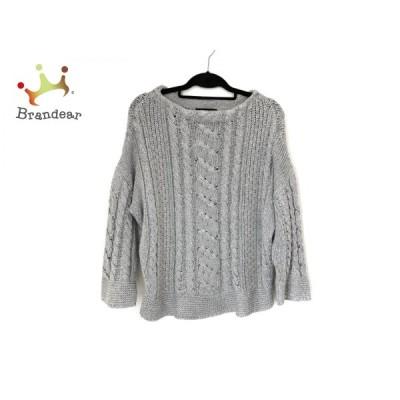 ダーマコレクション 長袖セーター サイズL レディース 美品 - グレー クルーネック 新着 20200616