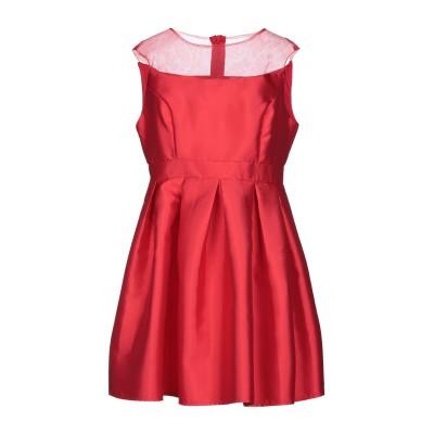 CHRISTIANE ROAD ミニワンピース&ドレス レッド XL レーヨン 50% / ポリエステル 50% ミニワンピース&ドレス