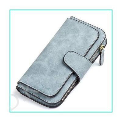 CLUCI 財布 レディース レザー デザイナー 二つ折り ロング レディース クレジットカードホルダー オーガ
