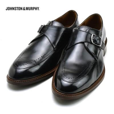 ジョンストン&マーフィー モンクストラップ SAYER ブラック 15-2847