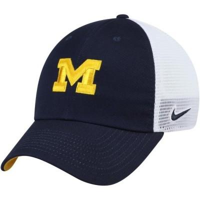 ユニセックス スポーツリーグ アメリカ大学スポーツ Michigan Wolverines Nike Heritage 86 Trucker Meshback Adjustable Hat - Navy -