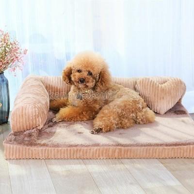 ペット ベッド ソファー モコモコ クッション スクエア 安眠 ベッド 犬 寝台 マット ぐっすり眠る 休憩所 ござ 寝床 S 草シート 涼しい 夏