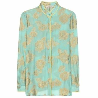 エトロ Etro レディース ブラウス・シャツ トップス Metallic silk-blend blouse