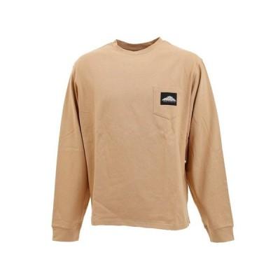 【3点購入5%OFFクーポン!5/8〜5/10】マウンテンスミス(MOUNTAINSMITH) EMBRO クルーネック長袖Tシャツ MS0-000-200026 BEG (メンズ)