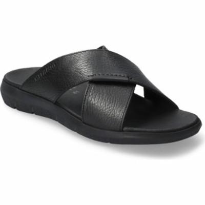 メフィスト MEPHISTO メンズ サンダル シャワーサンダル シューズ・靴 Conrad Slide Sandal Black Leather