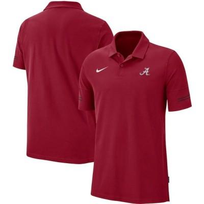 """メンズ ポロシャツ """"Alabama Crimson Tide"""" Nike 2020 Sideline Coaches Performance Polo - Crimson"""