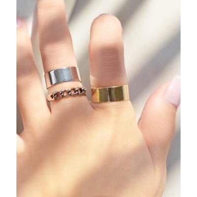 指輪 F&D : 3セット・シンプルデザインリング