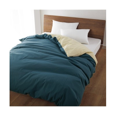 オーガニックコットン100%しなやなかな風合いの洗いざらし掛カバー。敷カバー 掛け布団カバー, Bedding Duvet Covers(ニッセン、nissen)