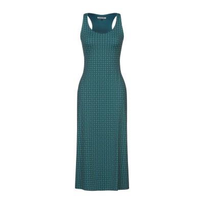 FISICO 7分丈ワンピース・ドレス ディープジェード S ナイロン 86% / ポリウレタン 14% 7分丈ワンピース・ドレス