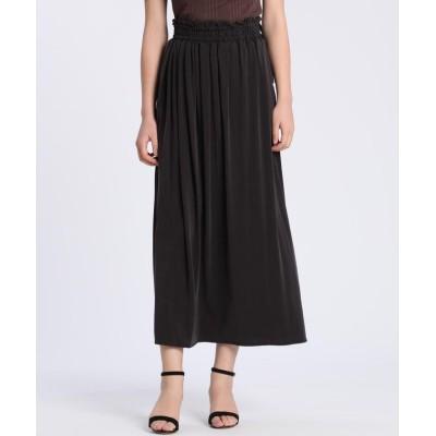 【イネド】 《YVON》ギャザースカート レディース チャコールグレー3 09 INED