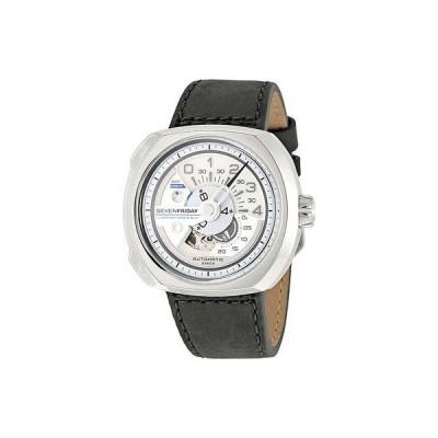 ゼンハイザー 腕時計 Sevenfriday V-シリーズ ブラック レザー メンズ 腕時計 V1-1