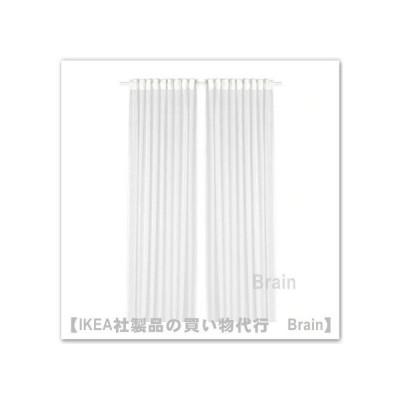 IKEA/イケア  GJERTRUD シアーカーテン1組145x250 cm ホワイト