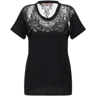 ツインセット シモーナ バルビエリ TWINSET T シャツ ブラック XS コットン 100% / ナイロン T シャツ
