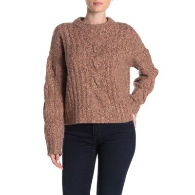 360カシミア レディース ニット&セーター アウター Destiny Marled Cable Knit Cashmere Sweater EIDER DOWN