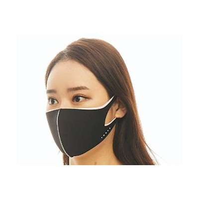 ルカ(LOOKA) デザインマスク デュアル BLACK×WHITE Sサイズ