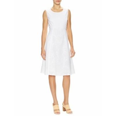 ラファイエット148ニューヨーク レディース ワンピース Shawn Cotton Perforated A Line Dress