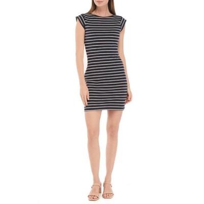 フレンチコネクション レディース ワンピース トップス Cap Sleeve Striped Dress