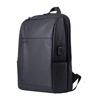 スクエアリュック リュック 男女兼用 ビジネス ウエストバッグ USBポート付き スマホ充電 通勤 通学 無地 大容量 メンズ レディース シンプル