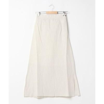 スカート 【Park Ave】綿麻キャンバスAラインスカート
