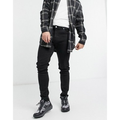 ウィークデイ メンズ デニムパンツ ボトムス Weekday Cone Jeans in Tuned Black
