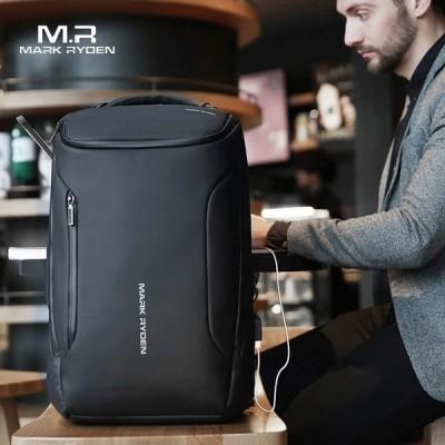 盗難防止ファッショナブルなメンズバックパックリュックサックデイパック多機能防水15.6インチラップトップバッグメンズusb旅行バッグを介して充電